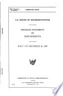 Detailed Statement Of Disbursements July 1 To December 31 1967