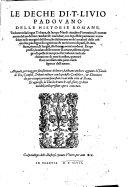 Le deche di T. Livio ... delle Historie romane