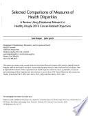 Selected Comparisons of Measures of Health Disparities