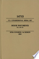 United States Congressional Serial Set Serial No 14713 House Documents Nos 105 107