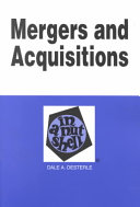 Mergers and Acquisitions in a Nutshell