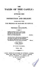 The Tales Of The Castle Or Stories Of Instruction And Delight Translated By Thomas Holcroft New Edition Etc