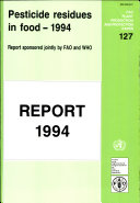 Pesticide Residues in Food   1994