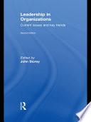 Leadership in Organizations Book
