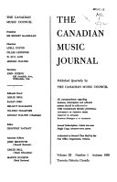 The Canadian Music Journal