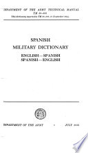 Spanish Military Dictionary