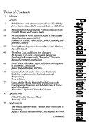 Psychosocial Rehabilitation Journal