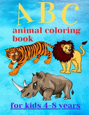 ABC Animal Coloring Book for Kids 4-8 Years