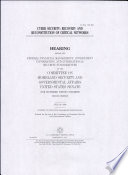 Cyber security : recovery and reconstitution of critical networks : hearing