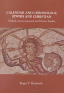 Calendar and Chronology  Jewish and Christian