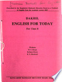 Madrasah textbooks from Bangladesh: Dakhil English for today : for class 8