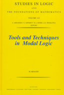 Tools and Techniques in Modal Logic