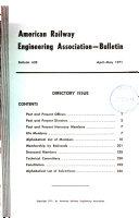 Bulletin   American Railway Engineering Association Book PDF