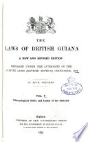 The Laws of British Guiana
