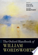 The Oxford Handbook of William Wordsworth Book