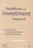 Handbook Of Investment Research