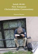 Isaiah 40 66 New European Christadelphian Commentary
