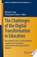 The Challenges Of The Digital Transformation In Education Book PDF