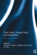 Think Tanks, Foreign Policy and Geo-Politics Pdf/ePub eBook