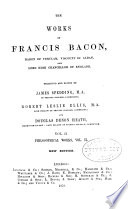 The Works of Francis Bacon      Philosophical works