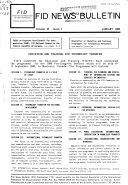 Fid News Bulletin Book PDF