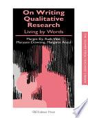 On Writing Qualitative Research Book PDF