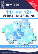 Anthem How to Do 11+ and 12+ Verbal Reasoning: Technique and Practice ebook