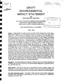 Draft Environmental Impact Statement For Proposed New Dredging Book PDF