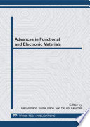 Advances In Functional And Electronic Materials Book PDF