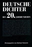 Deutsche Dichter des 20. Jahrhunderts
