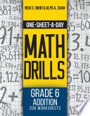 One Sheet A Day Math Drills