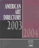 American Art Directory 2003 2004