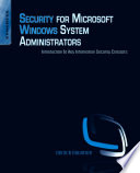 Security For Microsoft Windows System Administrators Book PDF