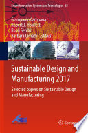 Sustainable Design and Manufacturing 2017 Book