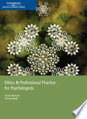 Ethics and Professional Practice for Psychologists