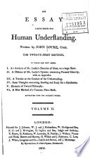 an essay concerning human understanding john locke google books an essay concerning human understanding volume 2 · john locke full view 1805