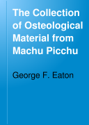 The Collection of Osteological Material from Machu Picchu Book PDF