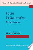 Focus In Generative Grammar Book PDF
