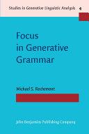 Focus in Generative Grammar