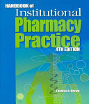 Handbook of Institutional Pharmacy Practice