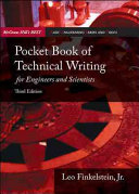 Pocket Book of Technical Writing for Engineers   Scientists