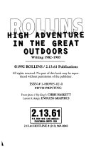 High Adventure in the Great Outdoors