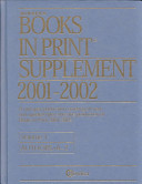 Bowker s Books in Print Supplement 2001 2002