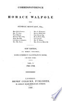Correspondence With George Montagu Etc New Ed With Illustrative Notes