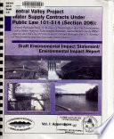 Central Valley Project Water Supply Contracts Under Public Law 101 514 Section 206 Vol I Appendices PDF