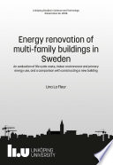 Energy renovation of multi family buildings in Sweden