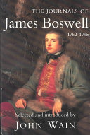 The Journals Of James Boswell 1762 1795