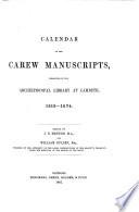 Calendar Of The Carew Manuscripts 1515 1574