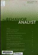The Behavior Analyst Book PDF