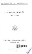 United States Congressional Serial Set  Serial No  14889  House Documents Nos  155 178